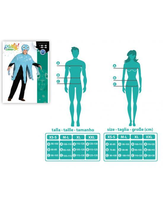 Disfra de esqueleto bufón