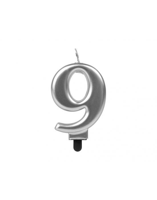 Gafas de Papá Noel plateadas