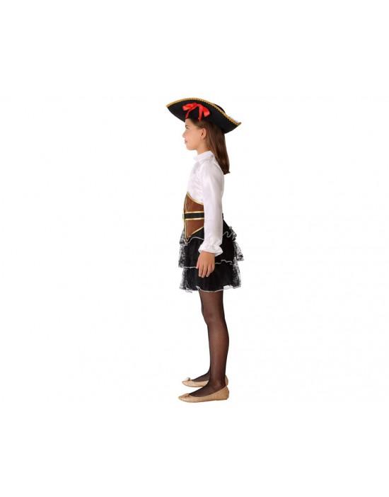 Disfraz de señorita de negro años 20 para mujer